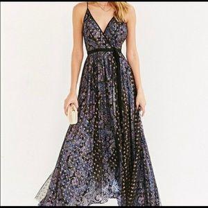 Urban Outfitters Ecote Stars Maxi Wrap Dress